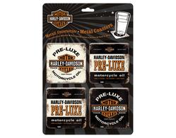Coasters Harley Davidson 4-p