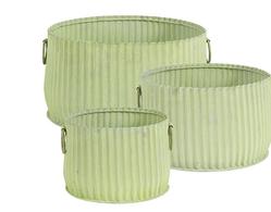 Krukor Rillade, 3-set, Grön