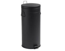Soptunna, svart, rund, 30 liter
