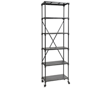 Iron rack with shelves