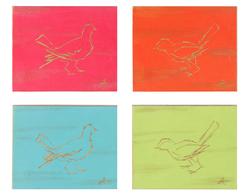 Tavla Guldfågel 4-set
