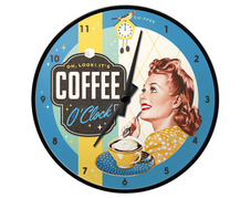 Väggklocka Coffee O´Clock
