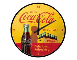 Väggklocka Coca-Cola Bottles Gul