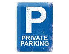 Plåtskylt Private Parking