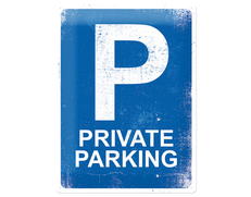 Plåtskylt Private Parking
