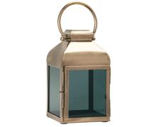 Ljuslykta Svart glas 20x35 cm