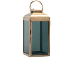 Ljuslykta Svart glas 26x58 cm