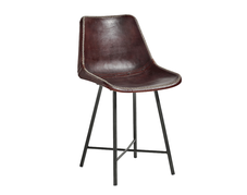 Läderstol, Mörkbrun